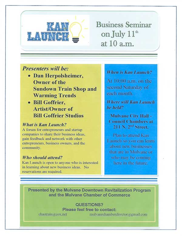 Kan Launch July 2020 flyer