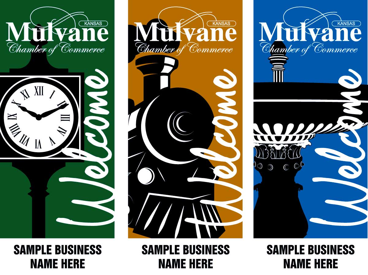 2020 Mulvane Chamber of Commerce Multi-Color Street Banner Preview