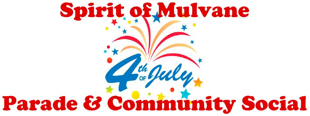 Mulvane Fourth of July Parade Header Graphic